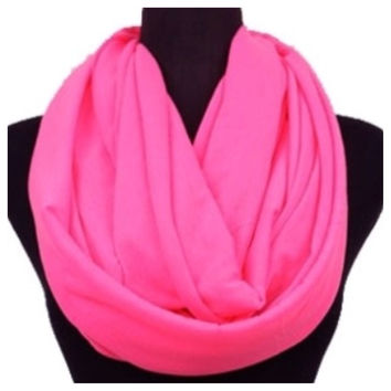 Soft and Smooth Bright Pink Infinity Scarf, Pink, Loop Scarf