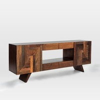 Reclaimed Wood Wedge Leg Console