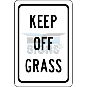 Keep Off Grass - aluminum sign 8x12