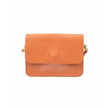 Fiona Crossbody - Saddle