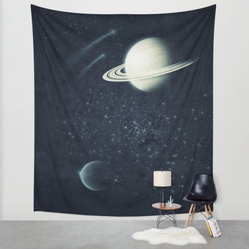 Deep Blue Space Wall Tapestry by DuckyB (Brandi)