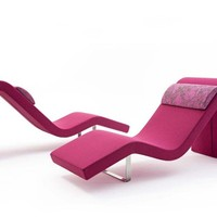 Upholstered lounge chair HIGHWAY O Highway Collection by Segis | design Bartoli Design