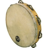 Latin Percussion CP376 6-Inch Tambourine With Head Single Row