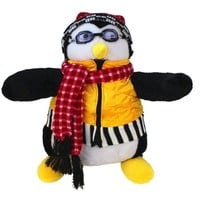 "Joey's Huggsy Penguin Plush Doll Friends Hugsy Joey Hat Scarf Goggles 18"" Toy - Walmart.com"