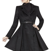 Therese Midi A-Line Coat | Alice + Olivia