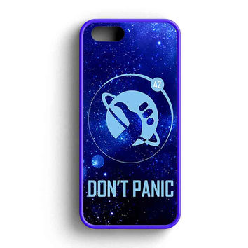 Hitchhikers Guide To The Galaxy Dont Panic  iPhone 5 Case iPhone 5s Case iPhone 5c Case