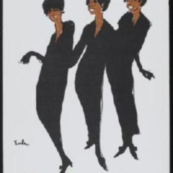 Supremes poster Metal Sign Wall Art 8in x 12in