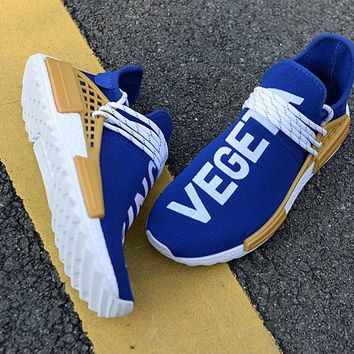 "Adidas x Human Race NMD ""Dragonball Evolution"" White&Yellow&Blue Men Sneaker"