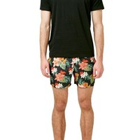Topman Tropical Floral Print Swim Trunks | Nordstrom