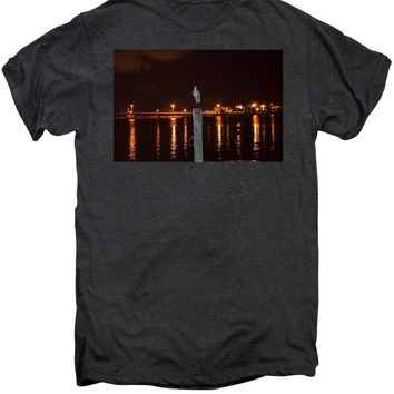 Blue Heron Night - Men's Premium T-Shirt
