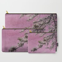 Blossom Pink Carry-All Pouch by ALLY COXON | Society6