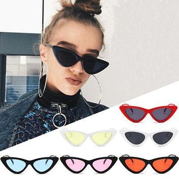 90s Retro Small frame cat eye sunglasses