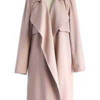 My Chic Open Trench Coat in Pink