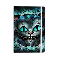 "Mandie Manzano ""Mad Chesire"" Teal Cat Everything Notebook"
