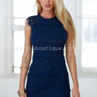 Jessica Dress (Navy) | Xenia Boutique | Women's fashion for Less - Fast Shipping