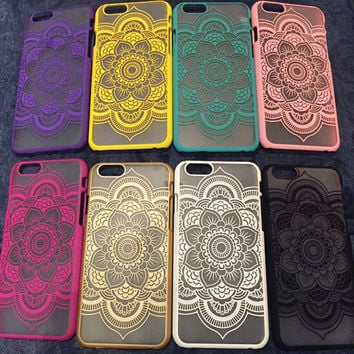 New Hollow Out Lace Flower Case Cover for iphone 5s 6 6s Plus Gift 177