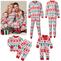 2016 family matching clothes family like Christmas Pajamas Set Daddy Mum Baby family matching outfits 2 pcs/set