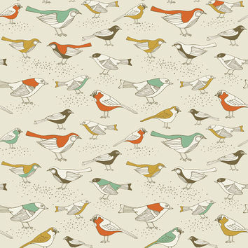 Song Sparrows Removable Wallpaper