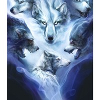 """Spirit Wolves"" - Art Print by Mike Nash"
