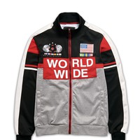 WORLD WIDE TRACK JACKET - BLACK