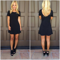 Morgan Skater Dress - BLACK