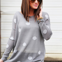 Gray Dotted Tunic