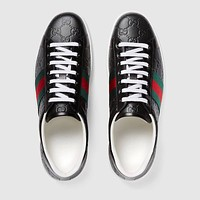 shosouvenir  :Gucci:Trending Fashion Casual Sports Shoes Black