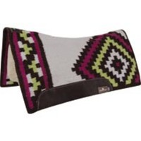 Classic Equine Fuchsia and Lime ESP Contoured Wool Top Saddle Pad