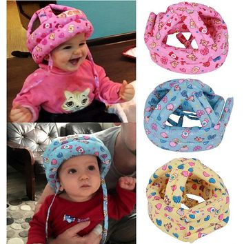 Baby Toddler Caps Anti-Collision Soft Protective Safety Hat Helmet Adjustable