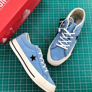 Converse One Star Pro Suede Low Top Blue Shoes - Best Online Sale