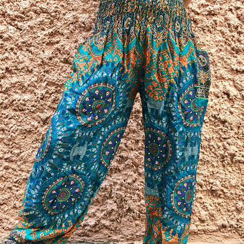 Harem Pants Hippie Boho Festival clothing Exercise Mandala Indian Beach Summer bohemian Yoga Vegan Clothes Fashion Women men Gift for her