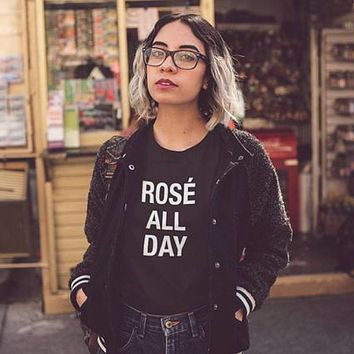 Rose All Day T-Shirt - Ladies Tops