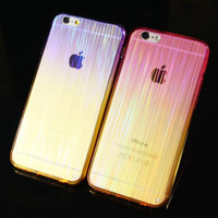 Unique Laser Transparent Protective Case for iPhone 6 6s plus 7 Best Gift