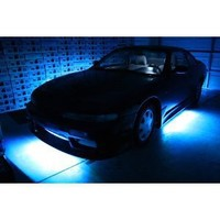 "eBoTrade-Tech 7 Color LED Under Car Light Glow Underbody Lighting System Kit 36""x2 & 24""x2"