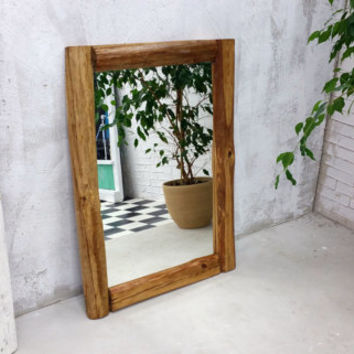 reclaimed wood mirror, rustic mirror,  29x40'', wall mirror, wooden mirror, old wood mirror, rustic decor, mirror