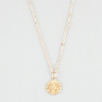 Full Tilt Dainty Disc Necklace Gold One Size For Women 24535262101