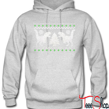 Funny Ugly Christmas T-Rex Sweater hoodie