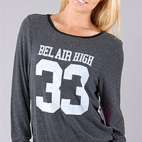 Wildfox Couture Bel Air High Baggy Beach Jumper in Black