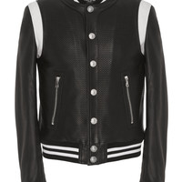 Teddy Leather Varsity Jacket | Moda Operandi