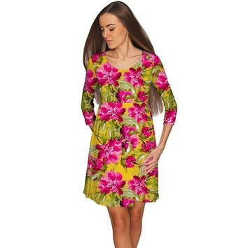 Indian Summer Gloria Fit & Flare Floral Dress - Women