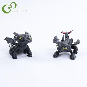 1pc How To Train Your Dragon 2 Toys Action Figures Night Fury Toothless PVC Dragon Children Brinquedos Kids Toys Juguetes GYH