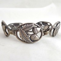 Early Danecraft FELCH Sterling Silver Acorns Bracelet