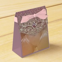 Posh pintuck diamond favor box