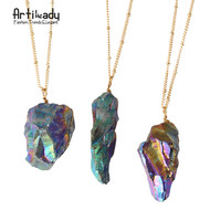 Artilady Natural Stone Pendant Necklace