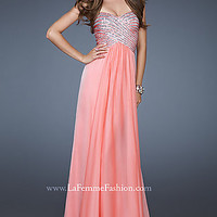 Long Strapless Sequin Gown by La Femme