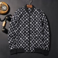 Louis Vuitton Lv Luxury Black White Jacket