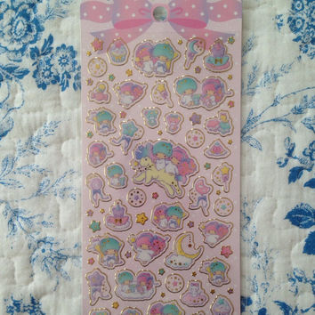 NEW Sanrio Seal Sheet Little twin stars