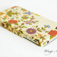 Vintage Decoupage needlework flowers pattern (iPhone 4/4s case)