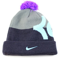 Nike KD Kevin Durant Pom Boy's Black/Gray/Purple Beanie Hat