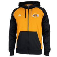 Los Angeles Lakers adidas 2014 Pre-Game Full Zip Hooded Jacket – Gold/Black